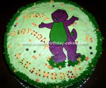 I Just Couldnt Find A Barney Pan The Ones That Found On Internet Were To Expensive So Decided Make Buttercream Transfer And It Came Out