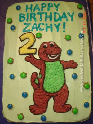 Magnificent Coolest Barney Cake Design Personalised Birthday Cards Cominlily Jamesorg