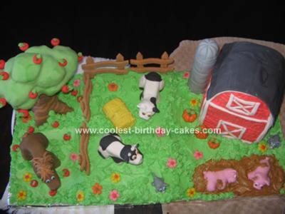 Homemade Barnyard Cake