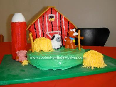 Homemade Barnyard Child Birthday Cake