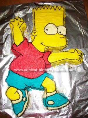 Homemade Bart Simpson Cake