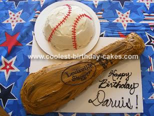 Baseball and Bat Cake