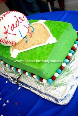 Homemade Baseball Bash Cake