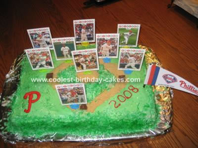 Phillies Baseball Cake
