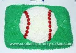Homemade  Baseball Cake Idea