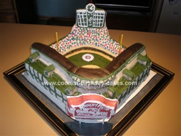 Fabulous Coolest Baseball Field Birthday Cake Personalised Birthday Cards Petedlily Jamesorg