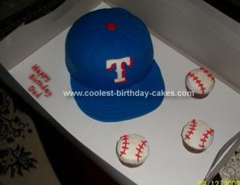 Texas Ranger Baseball Hat Birthday Cake