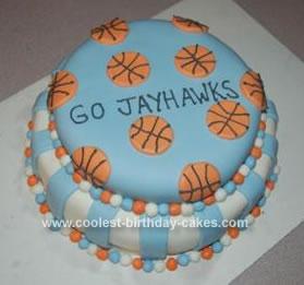 Homemade Basketball Cake