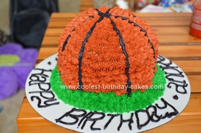 Homemade Basketball Cake