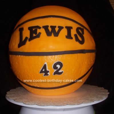 Homemade  Basketball Cake Idea