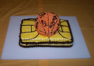 Homemade Basketball Court Cake