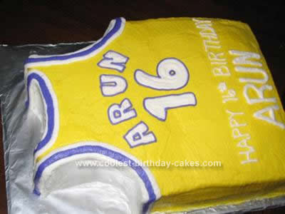 Homemade Basketball Jersey Birthday Cake