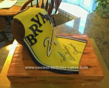 Homemade Basketball Jersey Cake