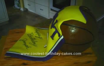 Homemade Basketball Jersey Cake