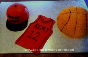 Homemade Basketball Theme Cake