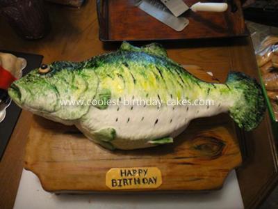 Homemade Bass Birthday Cake