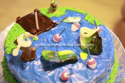 Coolest Bass Fishing Birthday Cake