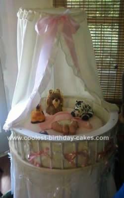 Homemade Bassinet Baby Shower Cake