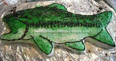 Homemade Bassmaster Birthday Cake