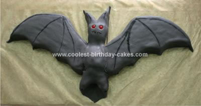 Homemade Bat Cake