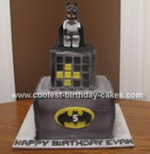 Homemade Batman Birthday Cake