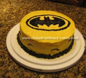 Homemade Batman Birthday Cake