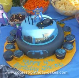 Swell Cute Homemade Batman Birthday Cake For My Son Funny Birthday Cards Online Overcheapnameinfo