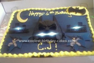 Cool Homemade Batman Cake With Mask