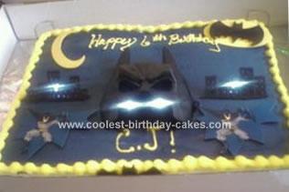 Homemade Batman Cake