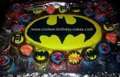 Homemade Batman Cake