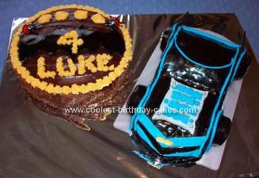 Luke's Batman Car Cake