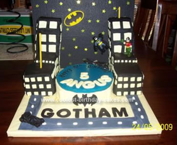Homemade Batman Gotham City Birthday Cake