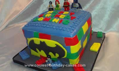 Homemade Batman Lego Cake