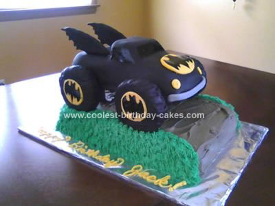 Homemade Batman Monster Truck Cake