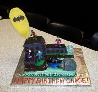 Homemade Batman Scene Birthday Cake