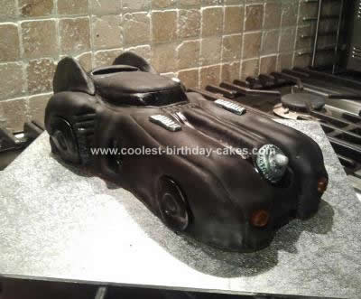 Homemade Batmobile Birthday Cake