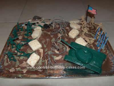 Homemade  Battlefield Birthday Cake Design