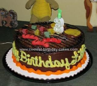 Homemade BBQ Birthday Cake