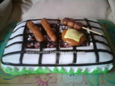 Homemade BBQ Birthday Cake Idea