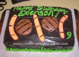 Homemade BBQ Grill Birthday Cake