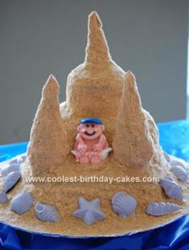 Homemade Beach Baby Shower Cake