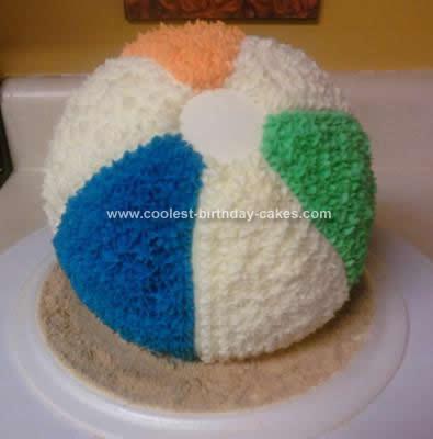 Enjoyable Coolest Beach Ball Cake Idea Birthday Cards Printable Benkemecafe Filternl