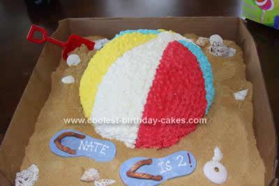 Homemade Beach Ball Cake Idea