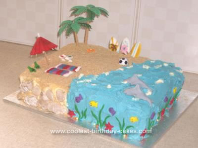 Homemade Beach Cake