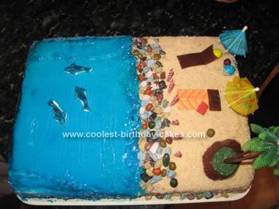 Homemade Beach Cake Idea