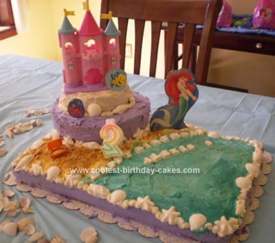 Homemade   Beach Scene Birthday Cake