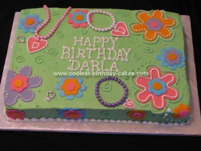 Homemade Beads Birthday Cake