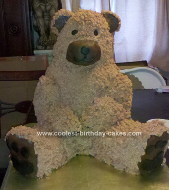 Homemade Bear Birthday Cake
