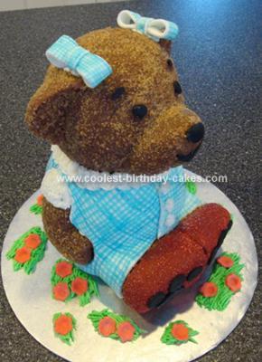 Homemade Dorothy Bear Cake