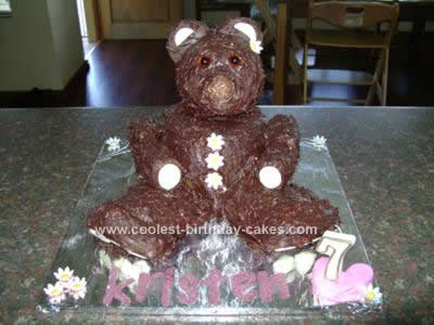 Homemade Bear Cake